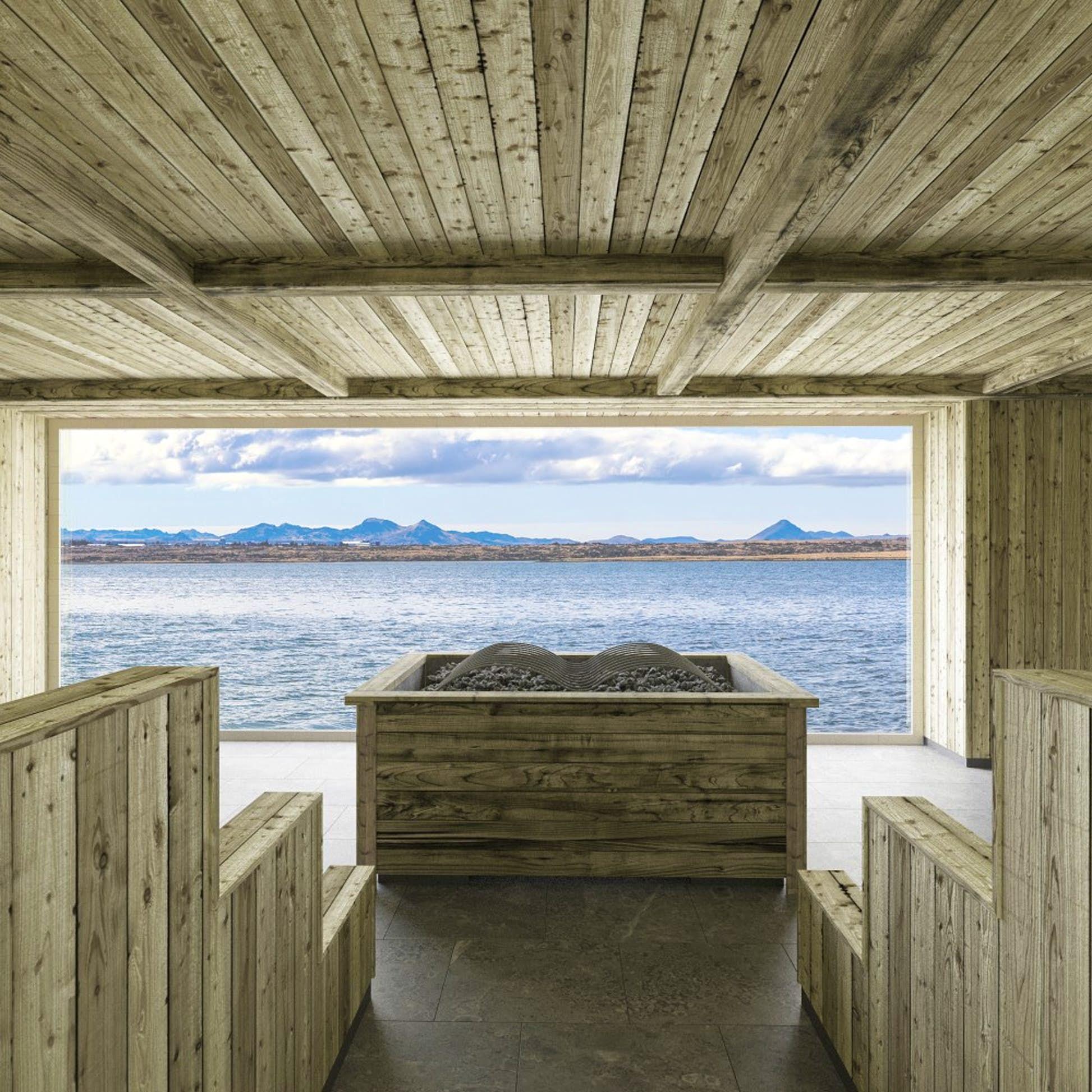 The sauna at Sky Lagoon has amazing views © Pursuit