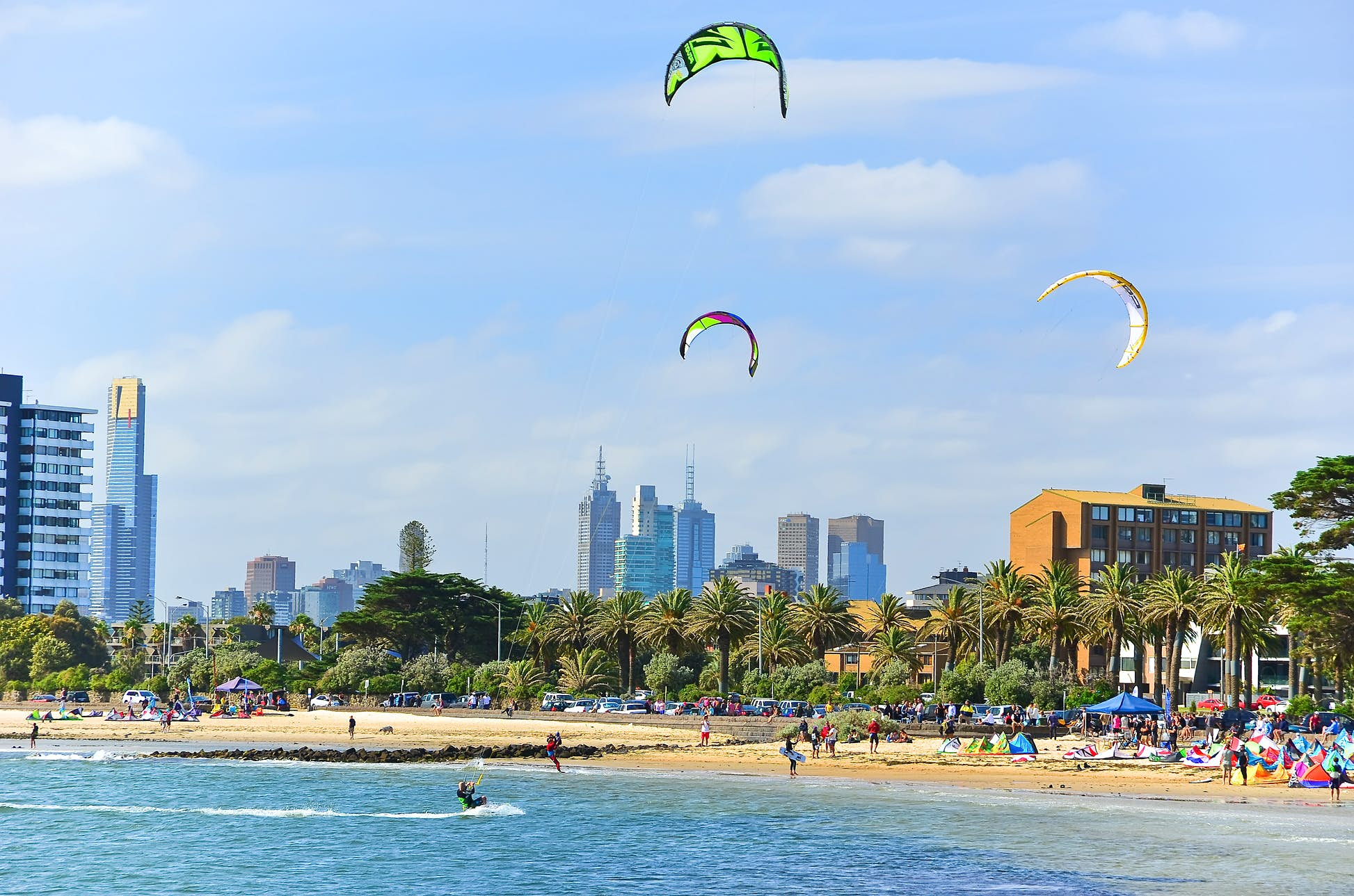 Popular holiday hotspots like St Kilda Beach in Melbourne may only see domestic tourists this year ©Javen/Shutterstock