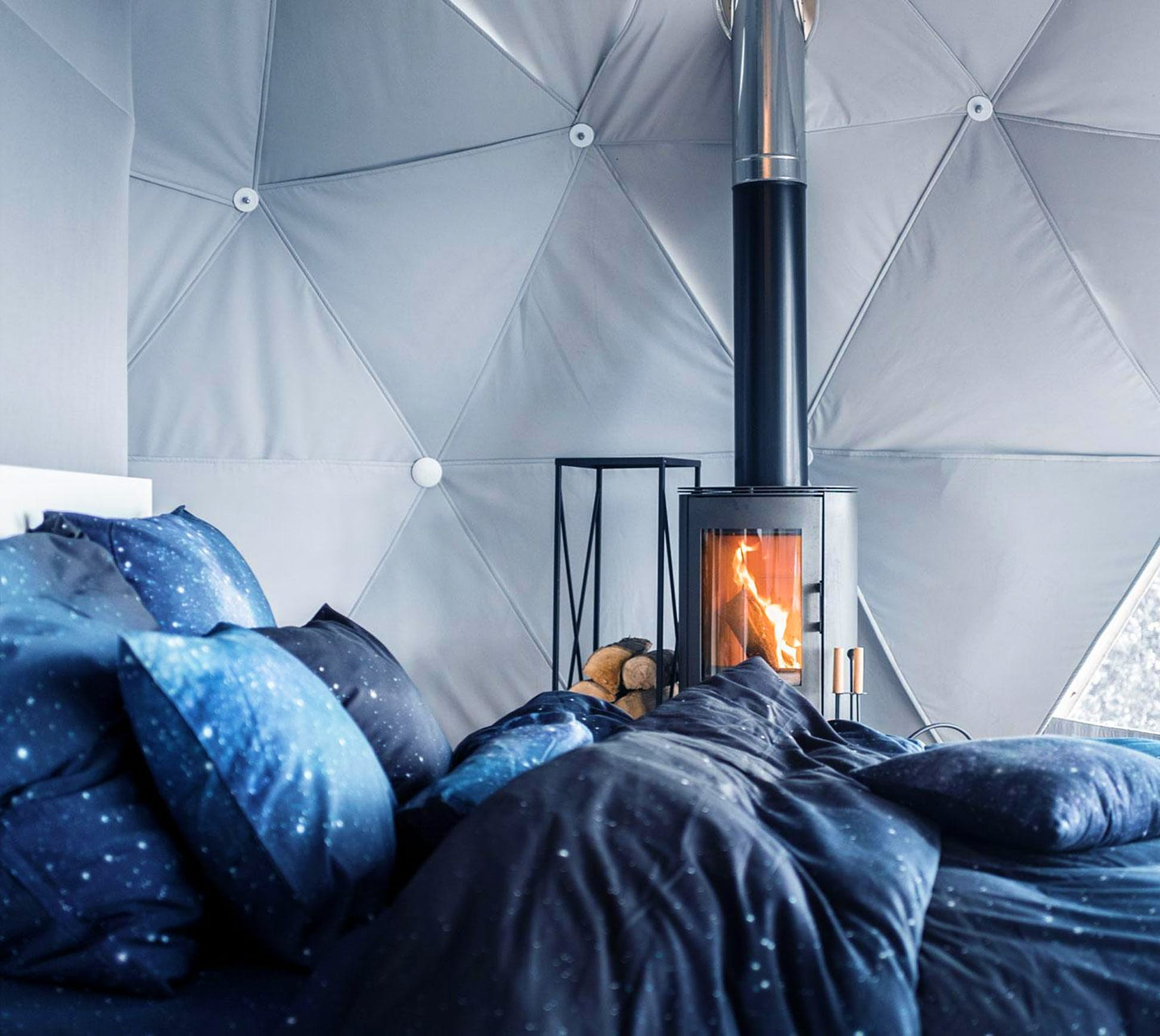 The interiors have cosy home comforts © The Domes