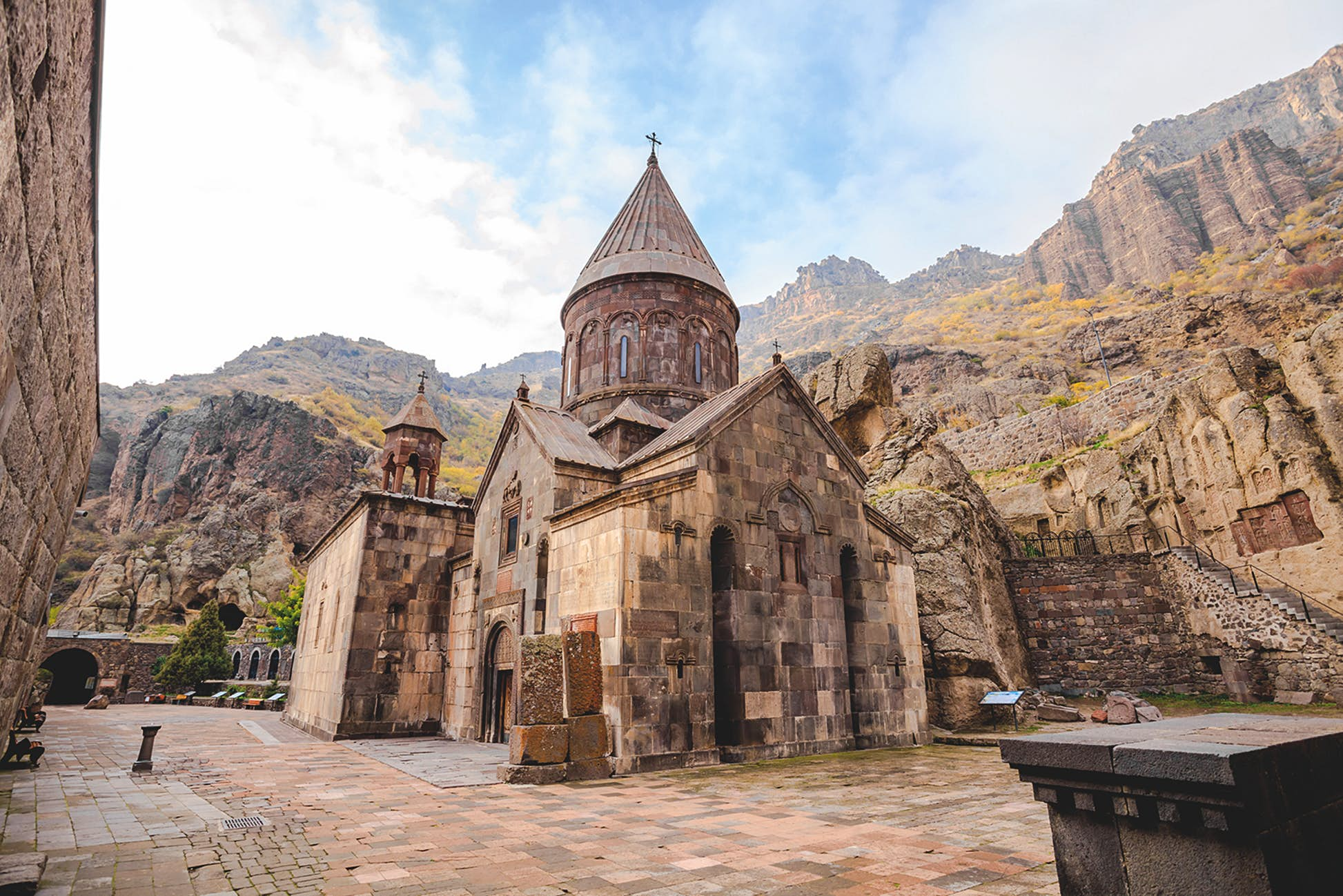 The Monastery of Geghard occupies an awesome spot at the foot of cliffs in Armenia © Takepicsforfun / Getty Images