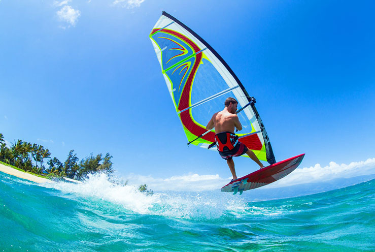 From windsurfing to hiking, there's plenty to do on Maui © EpicStockMedia/Shutterstock