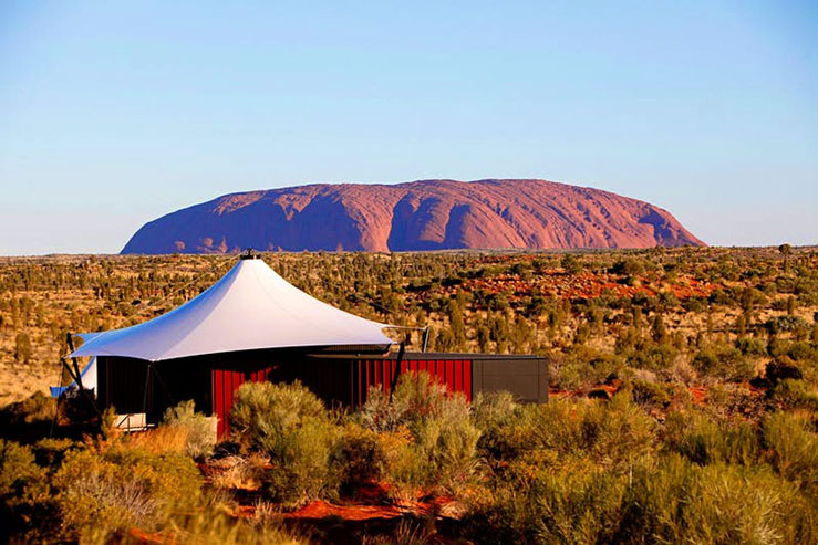 The glamping resort is next to Uluru in Australia © courtesy of Baillie Lodges / Lonely Planet