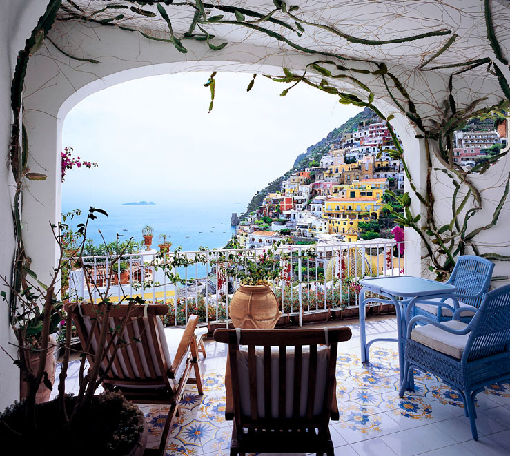 The balcony views rarely disappoint at this Amalfi Coast hideaway © courtesy of Le Sirenuse / Lonely Planet
