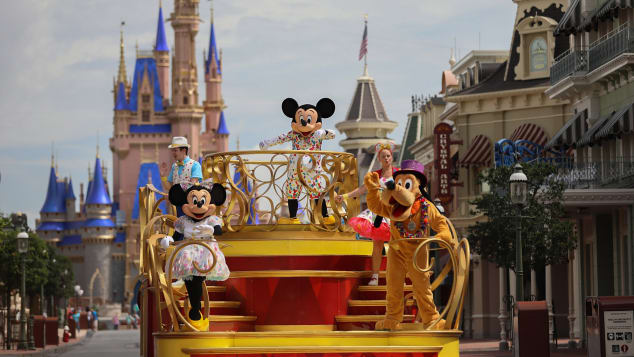 """Mickey Mouse will star in the """"Mickey and Friends Cavalcade"""" when Magic Kingdom Park reopens as traditional parades are on temporary hiatus. Olga Thompson/Walt Disney World Resort"""
