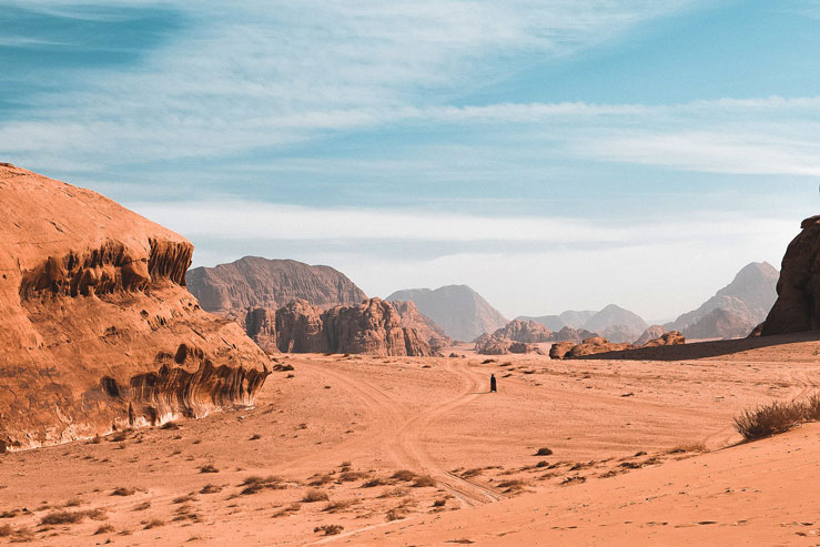 On the desert in Wadi Rum © Geri Moore / Lonely Planet
