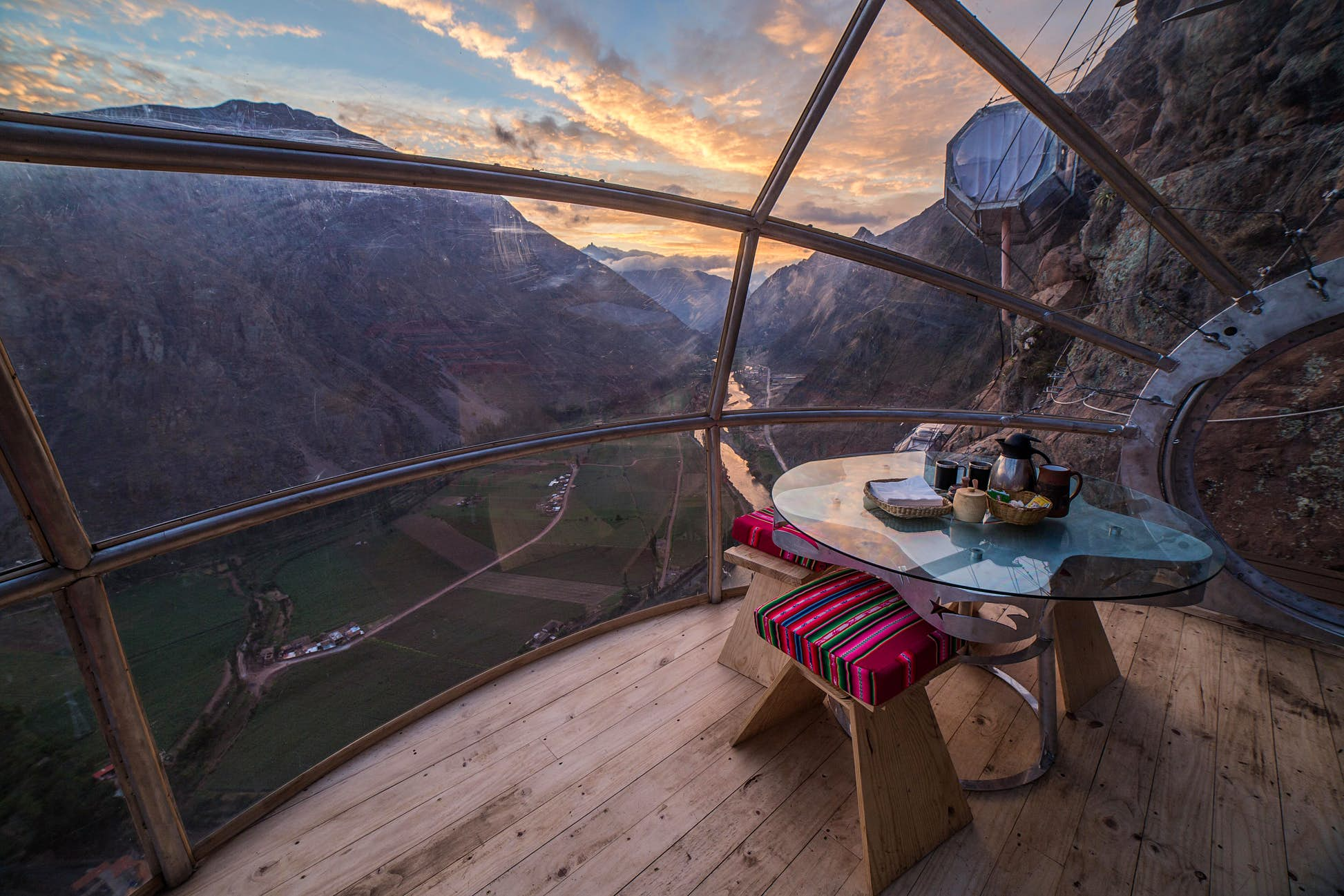 Some glass cabins require a head for heights @ Courtesy of Natura Vive