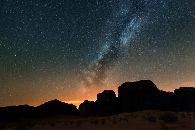 Wadi Rum's clear, desert air is perfect for stargazing © Elena Petrova/Alamy Stock Photo