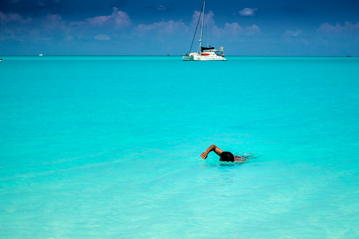 You'll never want to leave the vibrant blue waters at Treasure Cay Beach © Sherry Galey / Getty Images