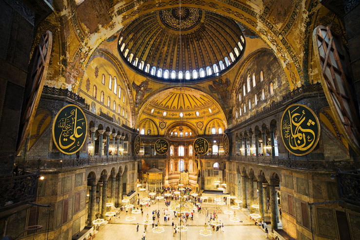 Interior of Hagia Sophia Cathedral, Istanbul, Turkey ©Artur Bogacki/500px