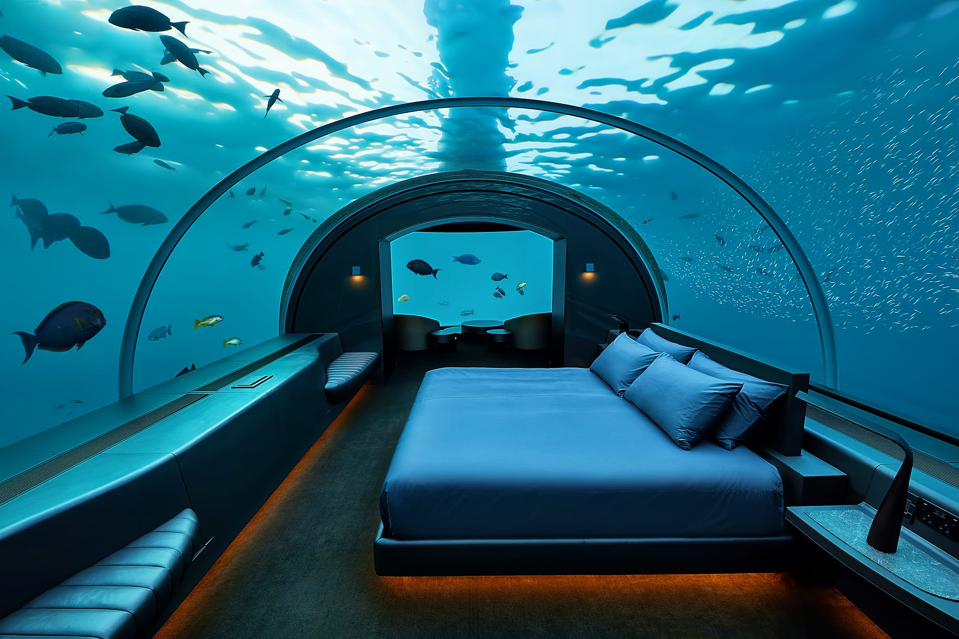 In the Maldives, you can dive by day and sleep underwater by night © Justin Nicholas