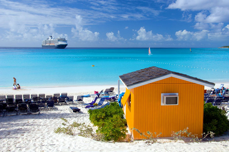 Commercial cruise vessels are not permitted to land in The Bahamas from the US © Caribbean/Alamy Stock Photo