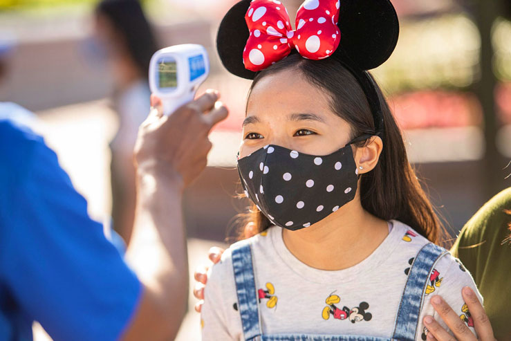 Guests have temperature screenings before entering the parks © David Roark/Walt Disney World Resort via Getty Images