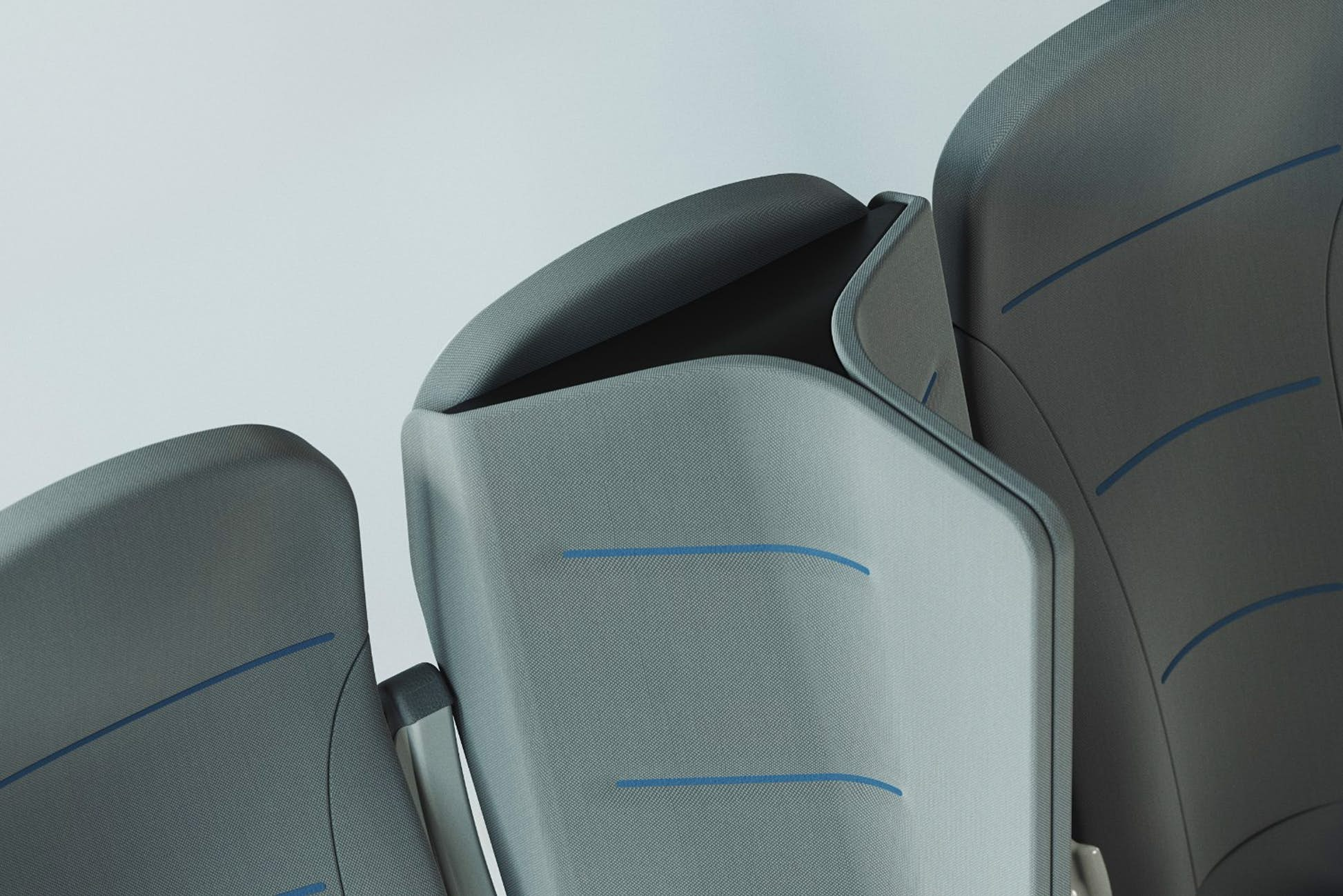 The curved design separates the travelers on either side © Universal Movement