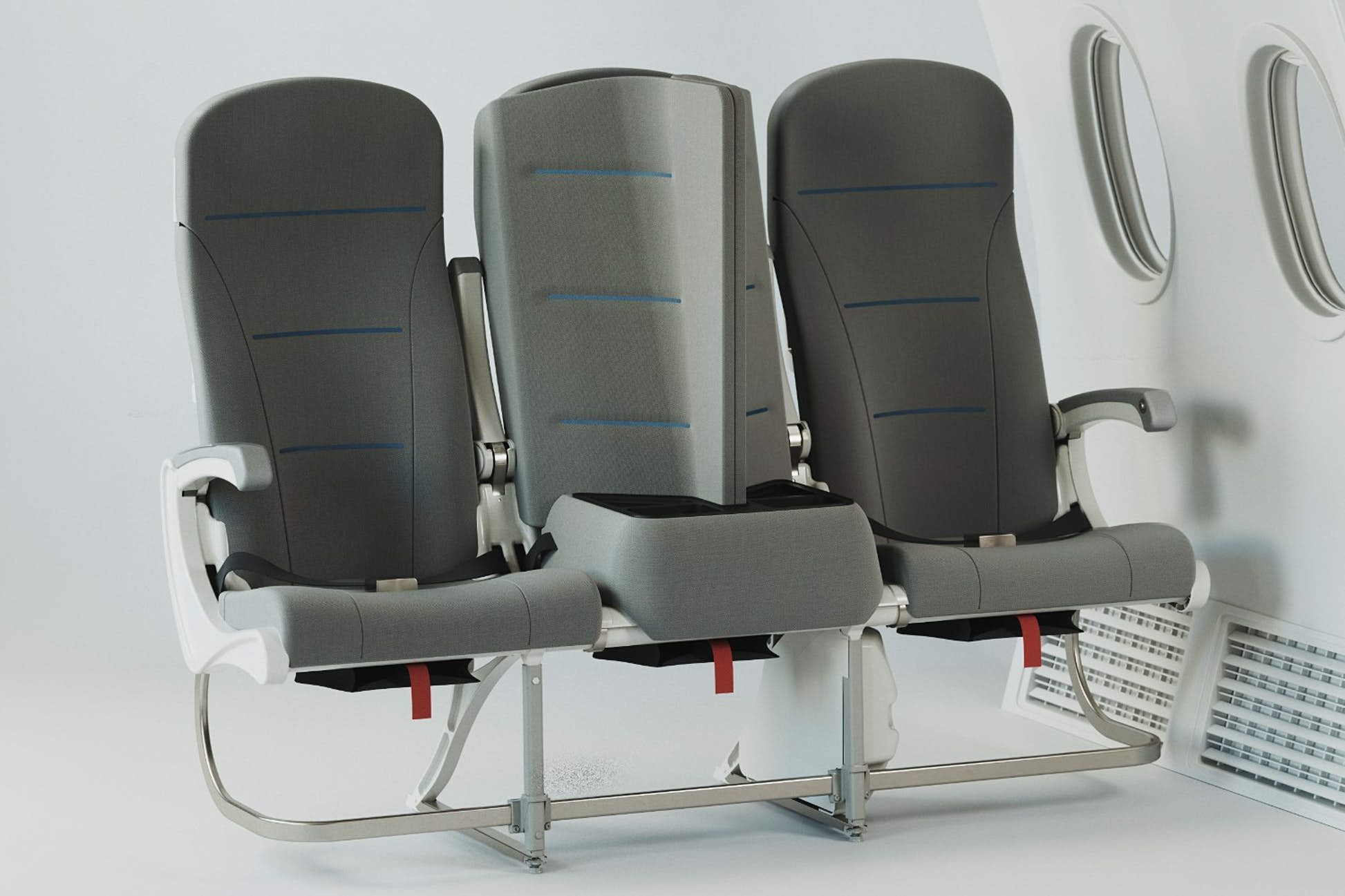 The seat could be a potential solution for social distancing requirements around travel © Universal Movement