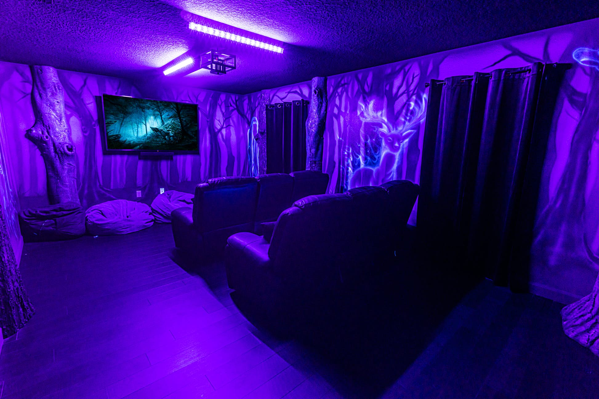 The theatre room comes complete with haunting dementors © Loma Homes