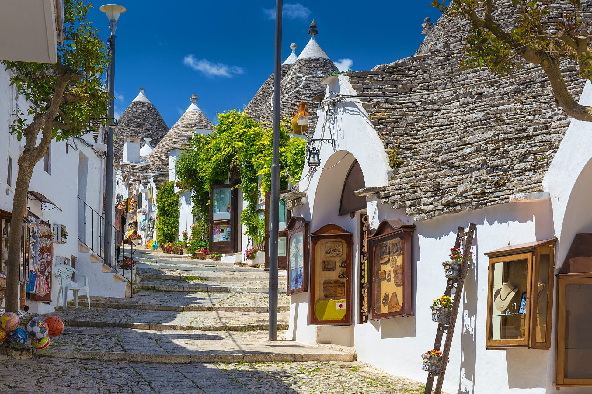 Puglia is home to the pretty town of Alberobello with its famous trulli houses ©Josef Skacel/Shutterstock