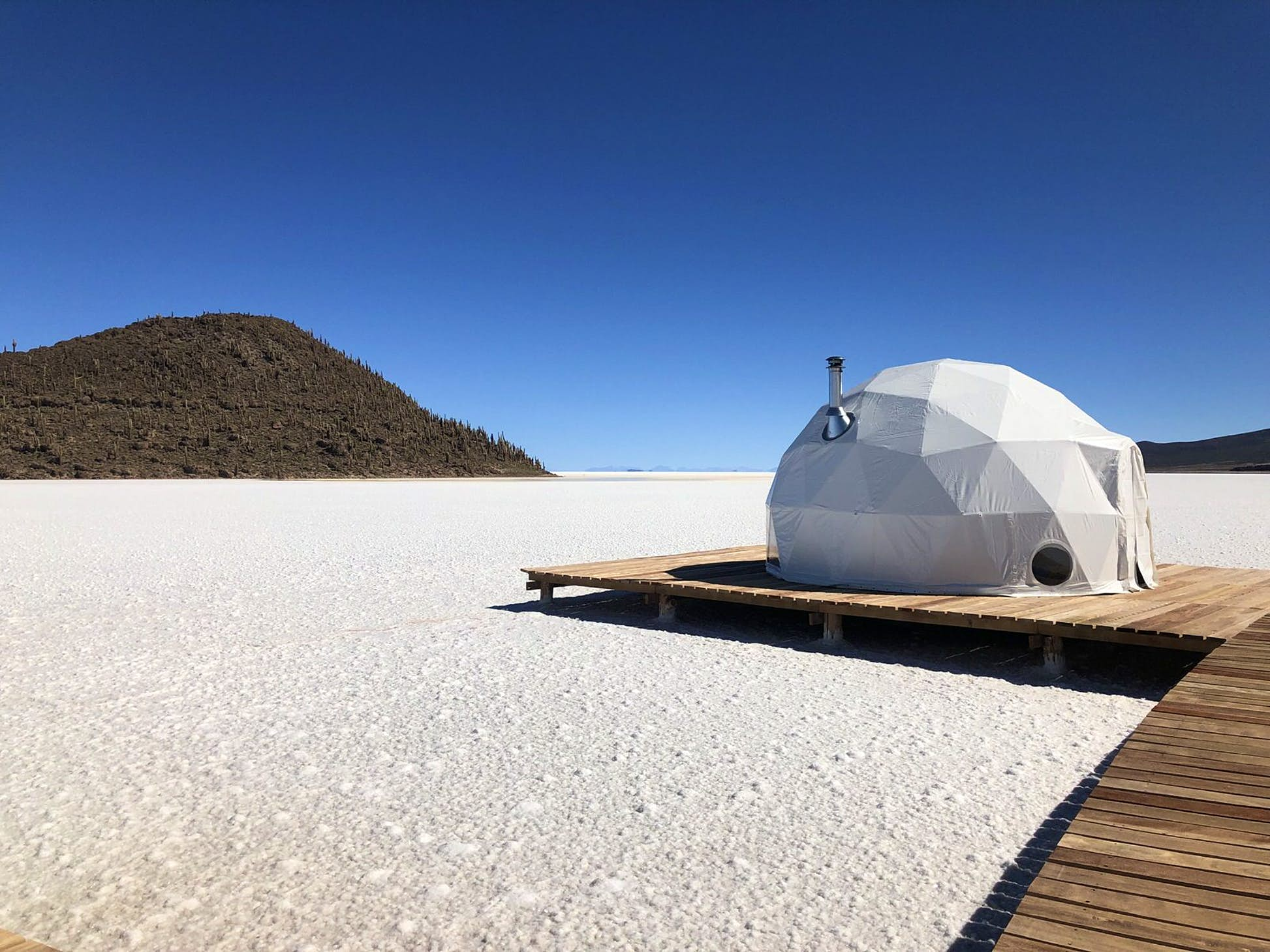 This brand new glamping experience in Bolivia's salt flats is now accepting bookings © Kacha Lodge