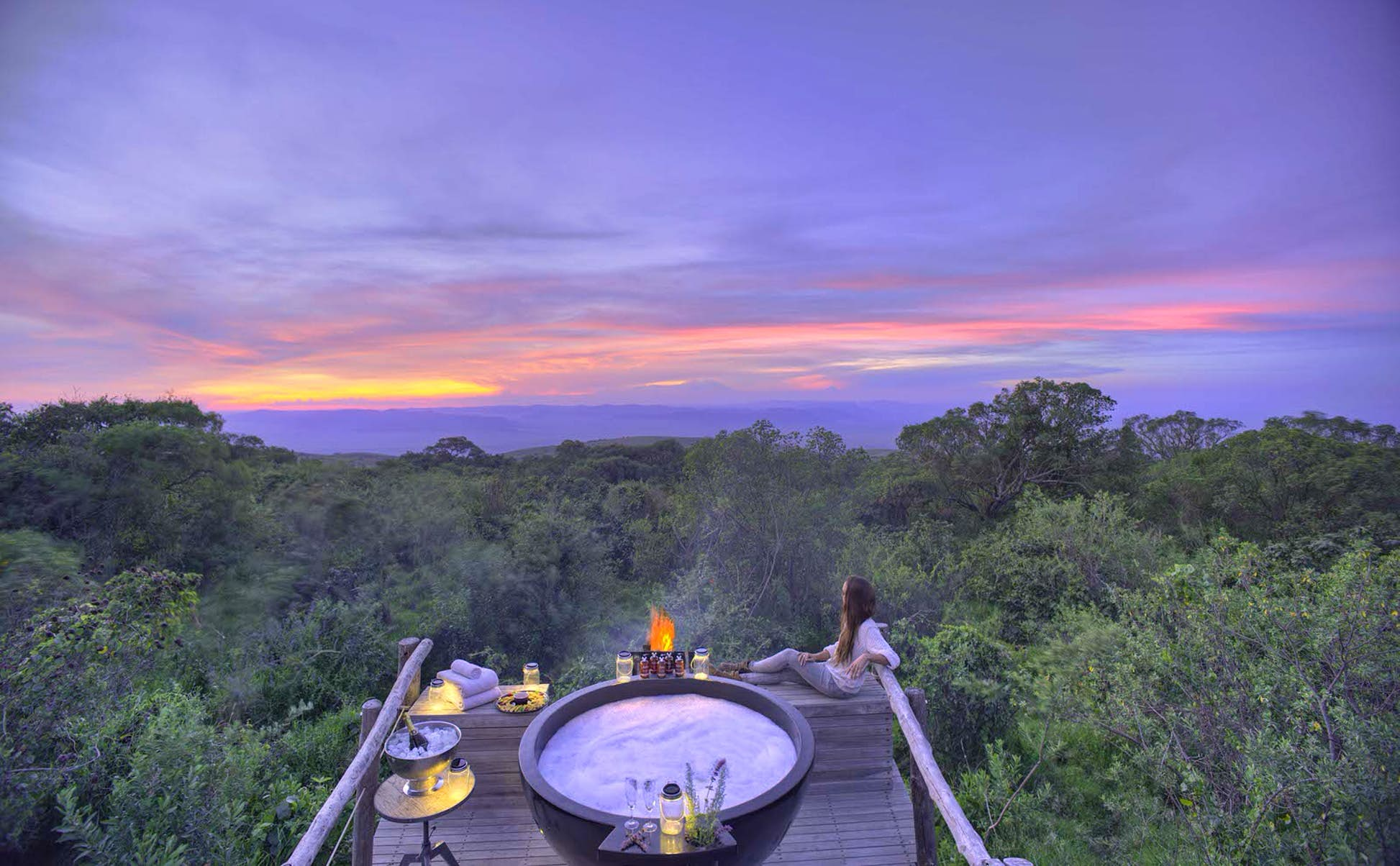 A view to wake up to at Highlands Camp in Ngorongoro Crater, Tanzania © Asilia Africa